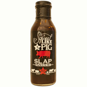 This is a 16.5 oz. bottle of Slaps Sauce