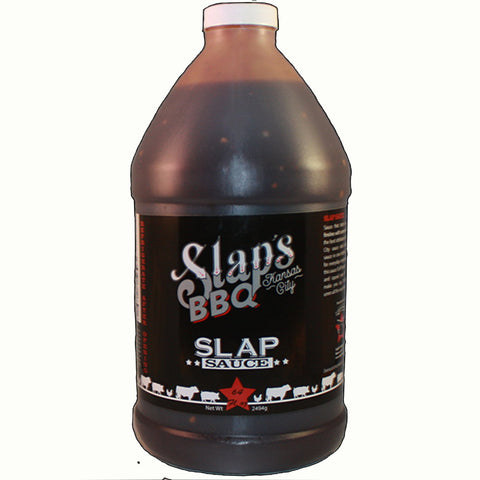 This is a 64 oz. bottle of Slaps Sauce