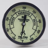 "This is a 3"" Tel Tru Glow in Dark  BBQ Grill or Smoker Thermometer 100 500"
