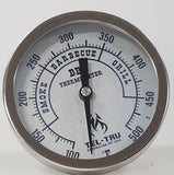 "This is a 5"" Tel Tru BBQ Grill or Smoker Thermometer 100 500"
