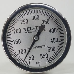 "This is a 5"" Tel Tru BBQ Grill or Smoker Thermometer 50-550"