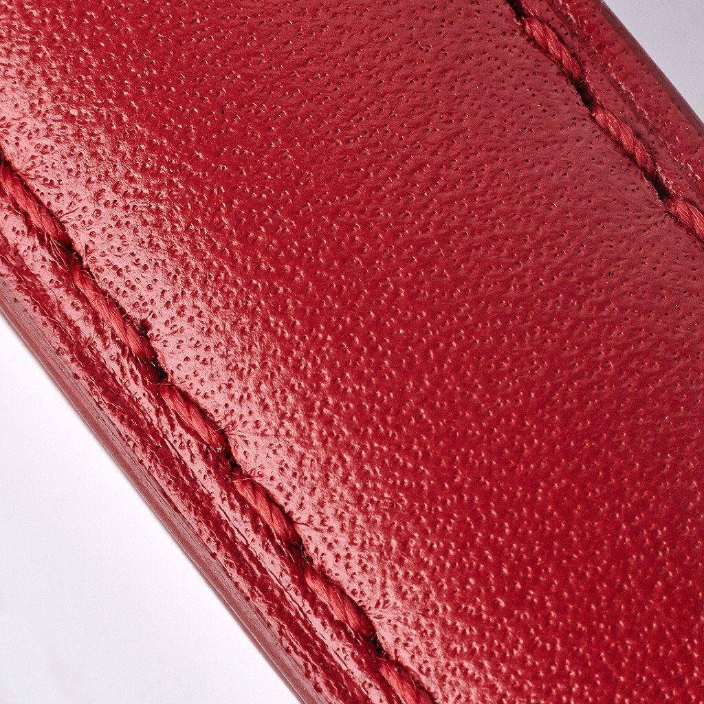 5832 Bremont Leather RedwRedStitch swatch