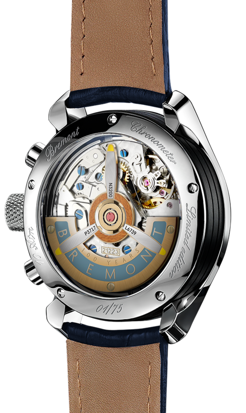 Bremont-1918-White-Gold-Back