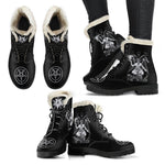 BaphoBoot Black Faux Fur - Between Valhalla and Hel