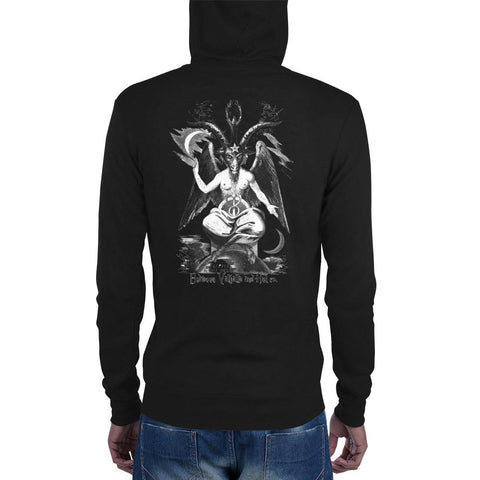 Baphomet Zip-up Hoodie - Between Valhalla and Hel