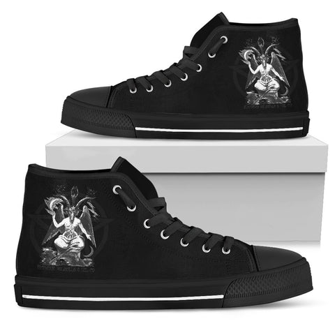 BaphoShoe Black Hightop - Between Valhalla and Hel