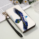 Men and Women's PU Leather Wallet around Long Clutch Purse - Between Valhalla and Hel
