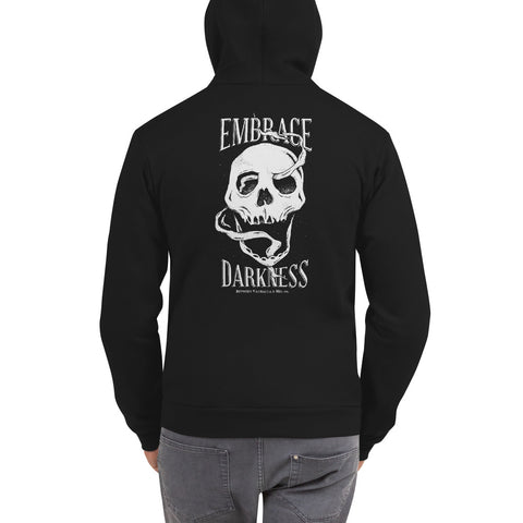 Embrace Darkness Zip up Hoodie - Between Valhalla and Hel