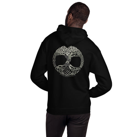 Sail To Yggdrasil Hoodie - Between Valhalla and Hel