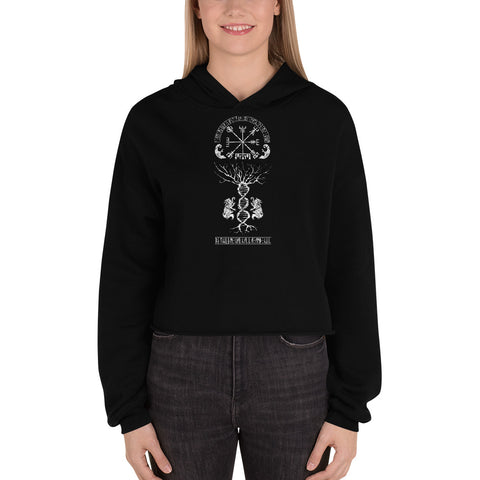 My Way is My Own Crop Hoodie - Between Valhalla and Hel