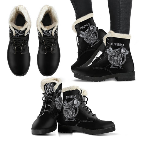 Ulfhednar Black  Fur boot - Between Valhalla and Hel