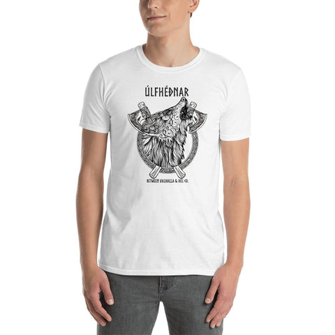 Ulfhednar Short-Sleeve Unisex T-Shirt (white & gray) - Between Valhalla and Hel