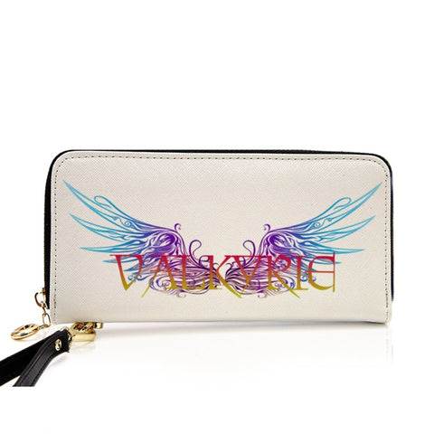 Valkyrie  PU Leather Wallet around Long Clutch Purse - Between Valhalla and Hel