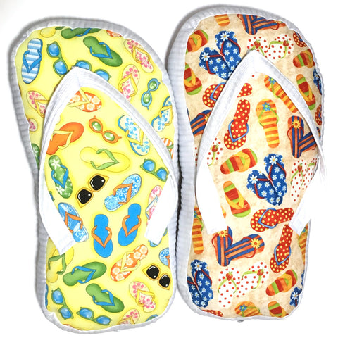 Flip flop shaped pillows TLC Patterns Home and kitchen decor