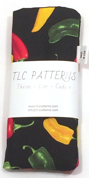Chili Pepper Black Pot Grabber - TLC Patterns