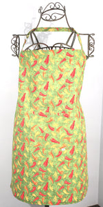 Chili Pepper Green Apron - TLC Patterns