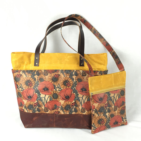 Sunflower Waxed Canvas Tote Bag - TLC Patterns