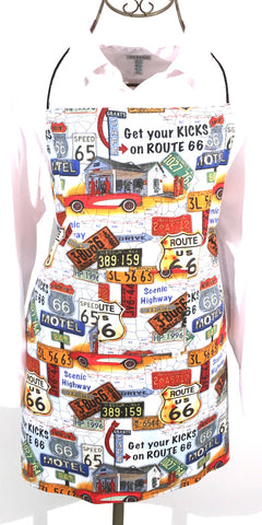 (Wholesale) Route 66 Get Your Kicks Apron - TLC Patterns