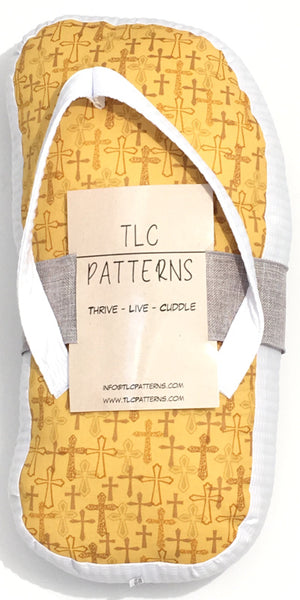 Golden Crosses Pillow - TLC Patterns