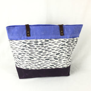 Purple Waxed Canvas Tote Bag - TLC Patterns