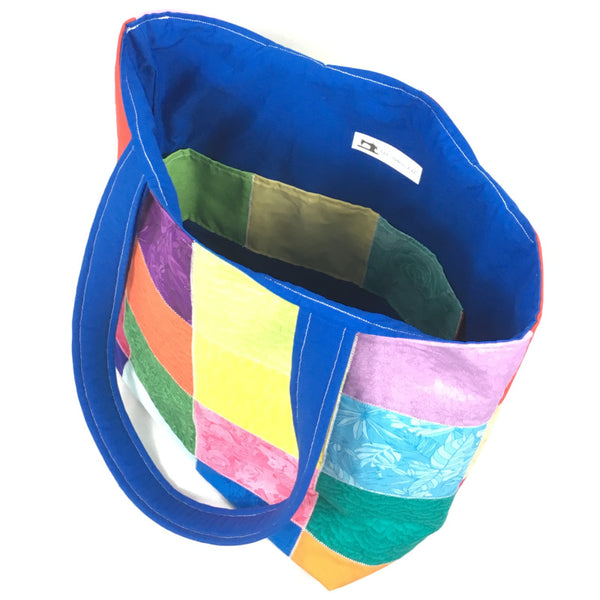 Rainbow Collage Tote Bag - TLC Patterns