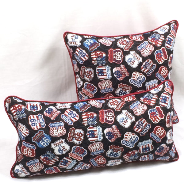 Route 66 Signs Accent Pillow
