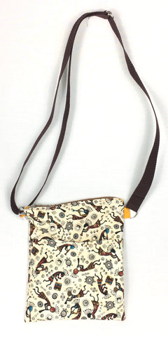 Tossed Kokopelli Crossbody purse TLC Patterns Home and Kitchen Decor