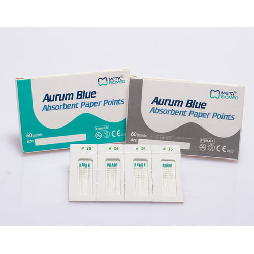 Aurum Blue Sterile Paper Points Pack of 60