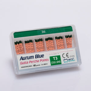 Aurum Blue Gutta Percha Pack of 60