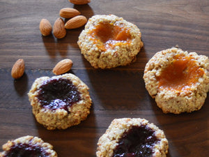 Rustic Almond Thumbprint Cookies