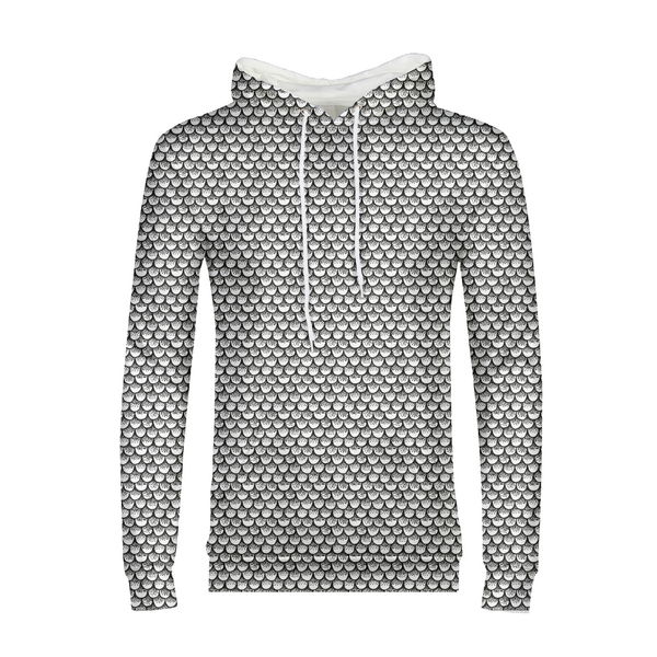 Stippled Scales in Monochrome Men's Hoodie | contrabrands