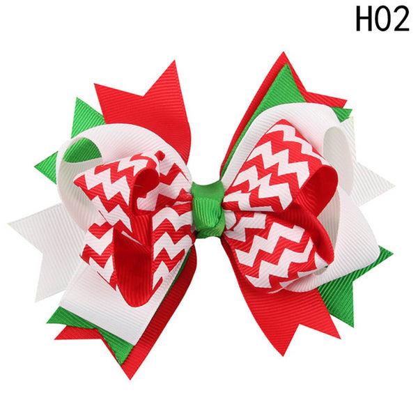 Little Ladies Layered Christmas Bow