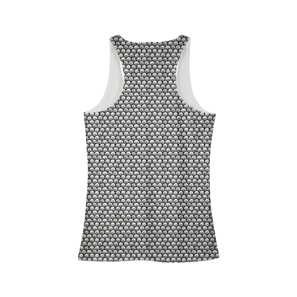 Stippled Scales in Monochrome Women's Tank