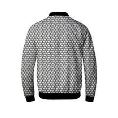 Stippled Scales in Monochrome Men's Bomber Jacket | shopcontrabrands.com
