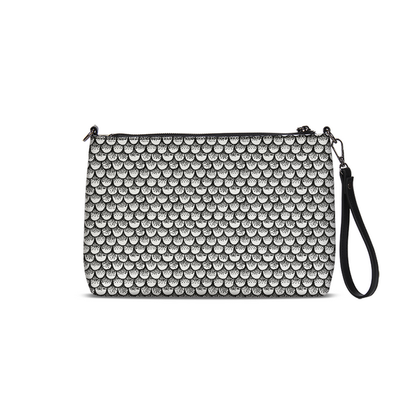 Stippled Scales in Monochrome Daily Zip Pouch | shopcontrabrands.com