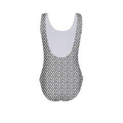 Stippled Scales in Monochrome Women's One-Piece Swimsuit