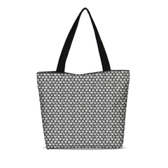 Stippled Scales in Monochrome Canvas Zip Tote | shopcontrabrands.com