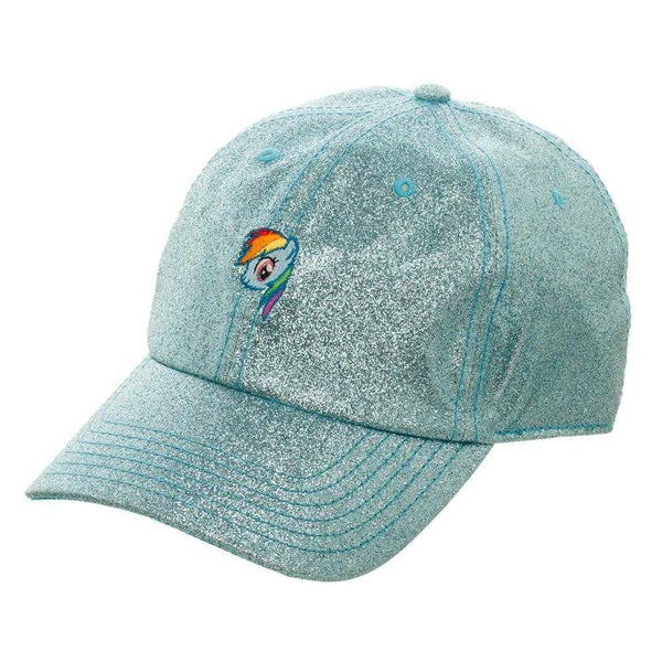 Blue Glitter Hat w/ My Little Pony Rainbow Dash - shopcontrabrands.com
