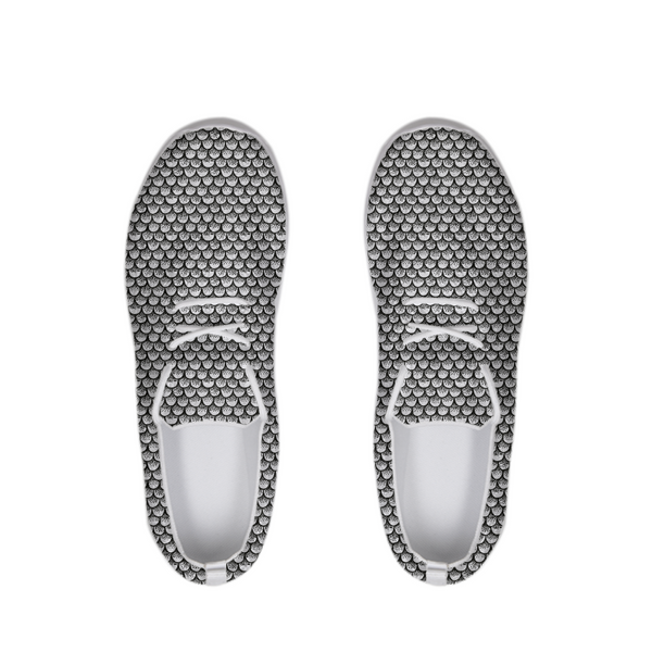 Stippled Scales in Monochrome Lace Up Flyknit Shoe | shopcontrabrands.com