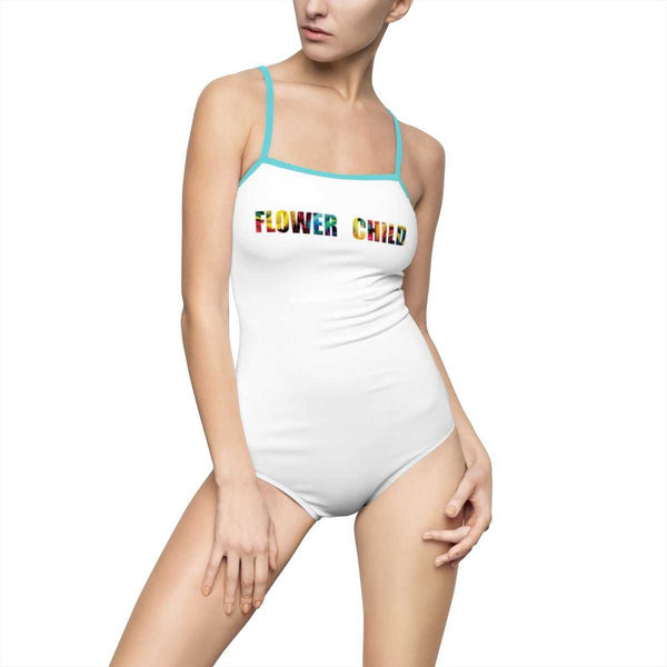 Flower Child One Piece Swimsuit - Floral - shopcontrabrands.com