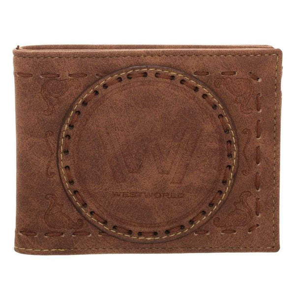 Westworld Logo Bi-Fold Wallet with Saddle Stitching | shopcontrabrands.com