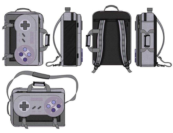 Controller Backpack  Game Controller Backpack Inspired by Super Nintendo - shopcontrabrands.com