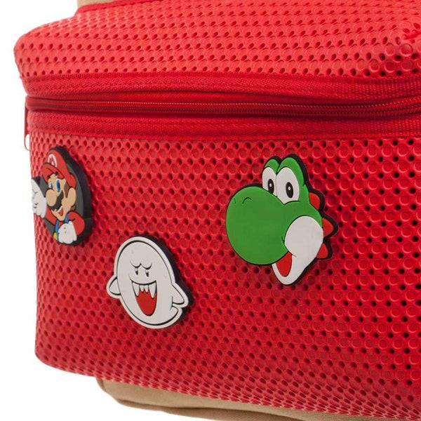 Mario Brothers Backpack w/ Mario Patches - shopcontrabrands.com