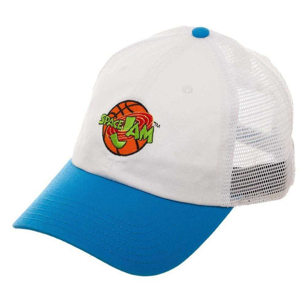 Space Jam Hat w/ Mesh Back - Adjustable Hat w/ Space Jam Logo Gift for Men | shopcontrabrands.com