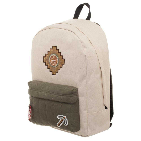 Minecraft Backpack Beige Explorer Bag - shopcontrabrands.com