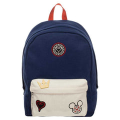 Kingdom Hearts Bag  Navy Blue and Whte Backpack with Kingdom Hearts Patches - shopcontrabrands.com
