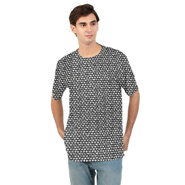 Stippled Scales in Monochrome Men's Tee | contrabrands