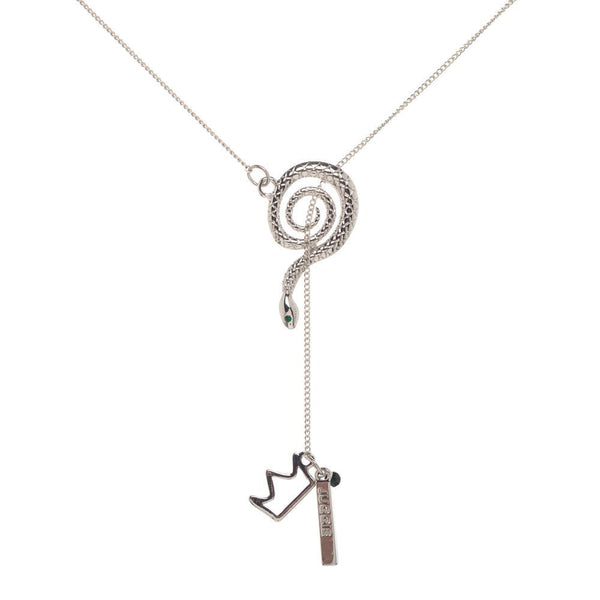 Riverdale Serpent Lariat Charm Necklace | shopcontrabrands.com