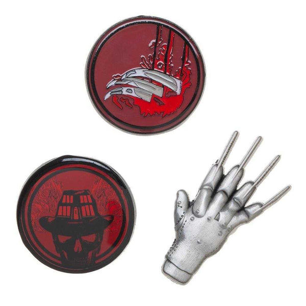 Freddy Krueger A Nightmare On Elm Street Lapel Pin Set - shopcontrabrands.com