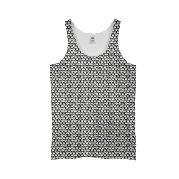 Stippled Scales in Monochrome Men's Tank